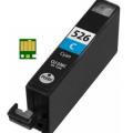 Eetbare inkt Canon CLI-526 Cyaan met chip (huismerk)
