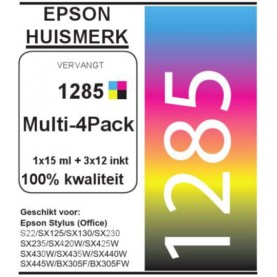 Epson 1285 Multi-4 Pack cartridges (huismerk)