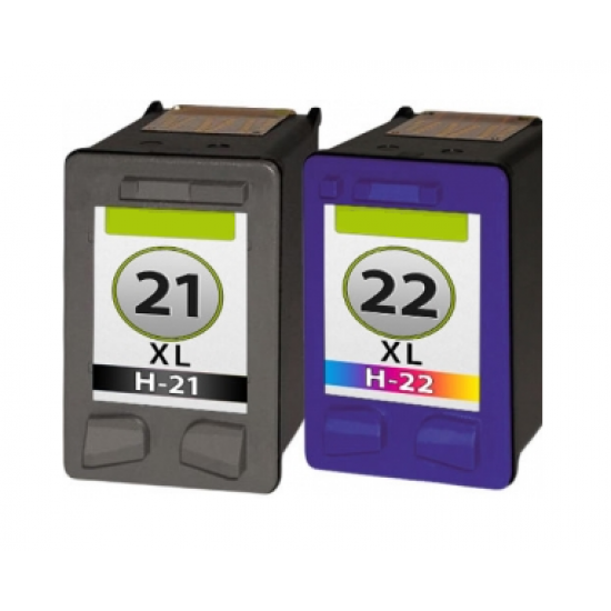 HP 21XL + HP 22XL cartridges set (huismerk)
