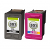 HP 301 XL DUO-PACK (zwart+kleur) cartridges (huismerk)