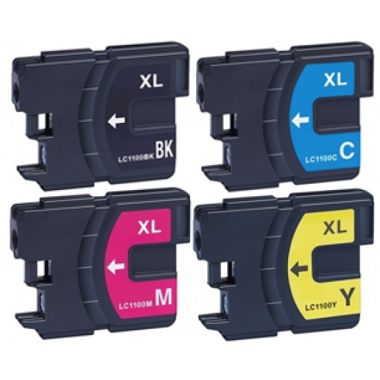 Brother LC-1100 XL    (4-Pack) (huismerk)