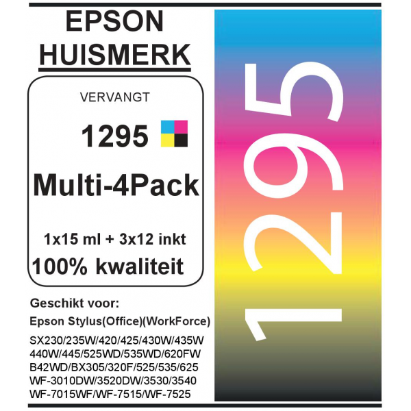 Epson 1295 (Multi-4 Pack) cartridges (huismerk)
