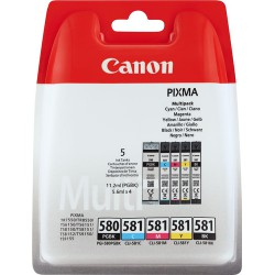 Canon PGI-580 + CLI-581 Multi-5 Pack cartridges (ORIGINEEL)