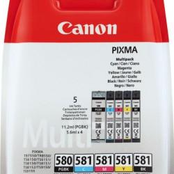 Canon PGI-580 + CLI-581 Multi-5 Pack cartridges (ORIGINEEL)