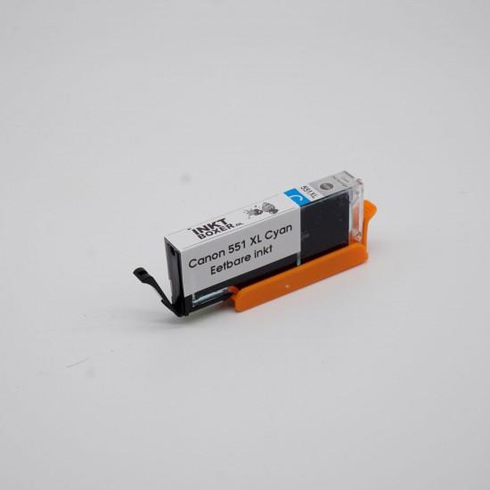 Eetbare inkt Canon CLI-551 XL cyaan cartridge