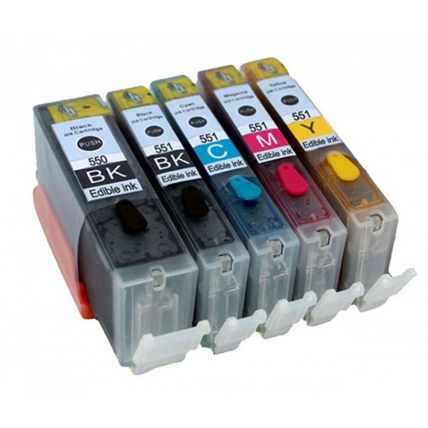 Eetbare inkt Canon PGI-550 XL + CLI-551 XL (5-Pack) cartridge