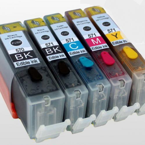 Eetbare inkt Canon PGI-570 XL + CLI-571 XL (huismerk)