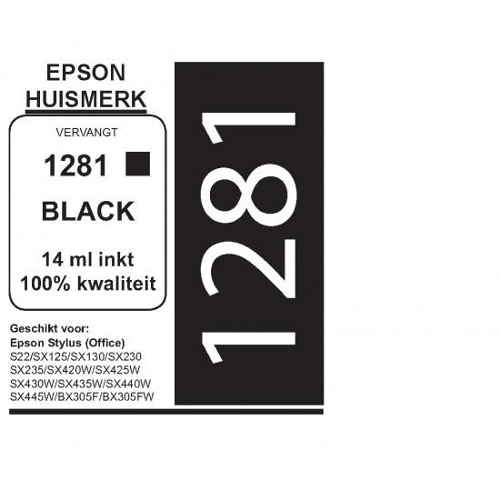 Epson 1281 Zwart cartridge (huismerk)